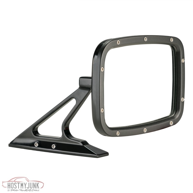 Black Rectangular Mirror Front Reversed BR011