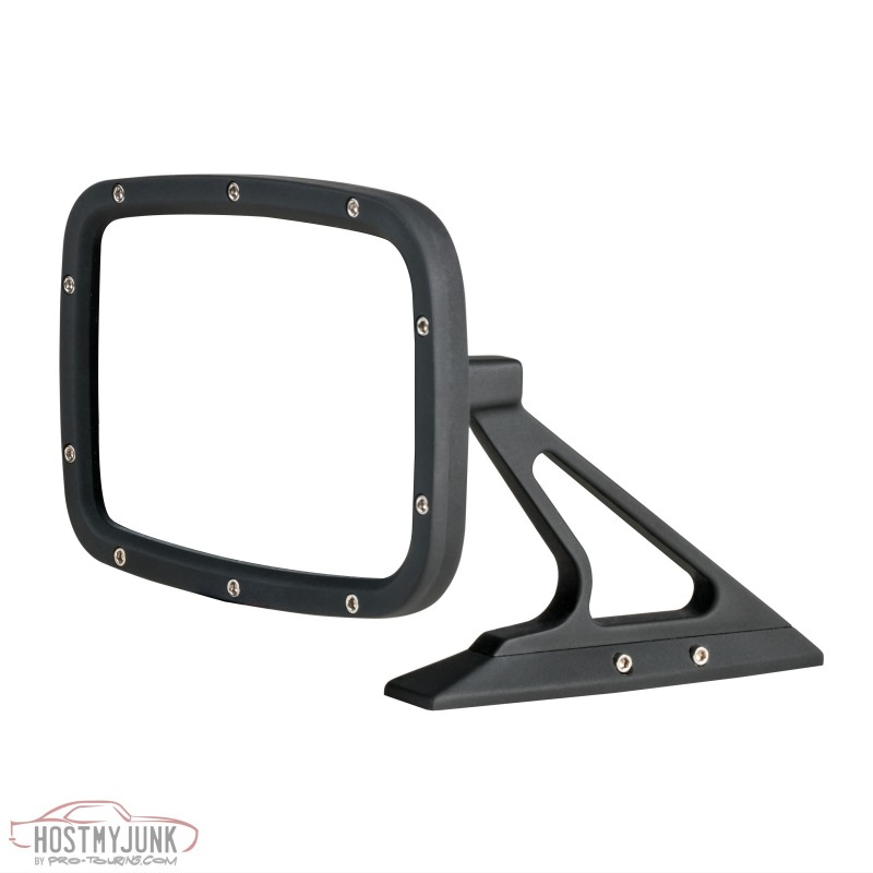 Flat Black Rectangular Front BR013