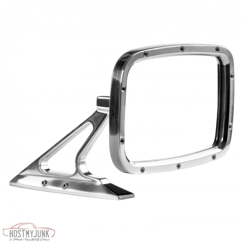 Polished Rectangular Side View Mirror Right BR010